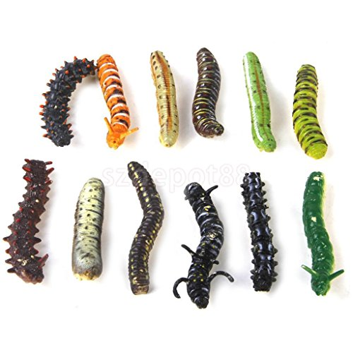Lot 12 Plastic Caterpillar Worm Insects Toy Kids Party Goody Loot Bag Filler by uptogethertek
