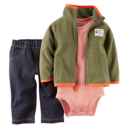 Carter's Baby Boy's 3-Piece Cardigan Set
