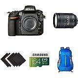 Nikon D810 FX-format Digital SLR Super Zoom Lens Kit w/AmazonBasics Accessories