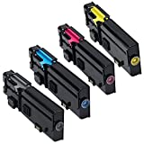 Dell C2665dnf MFP High Yield Black and Standard Yield Color Toner Cartridge Set