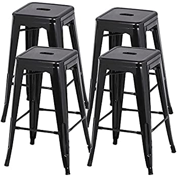 Amazon Com Yaheetech 30 Inches Metal Bar Stools High