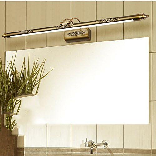 OOFAY Light@ LED Spiegelleuchte Vintage Spiegellampe Aufbauleuchte Badlampe Badleuchte Bildleuchte Schrankleuchte aus Eisenkunst 50CM