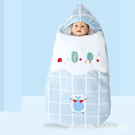 Nwarmsouth Saco de Dormir Bebe Verano y 4 Estaciones Recien Nacido,Saco de Dormir extraíble para bebé, edredón para bebé Four Seasons, Azul B: Amazon.es: Hogar