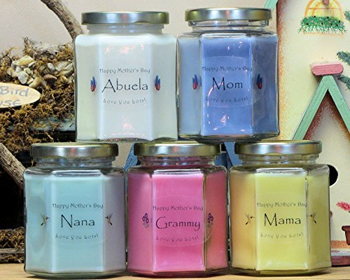 Mother's Day Candles – Pick a Scent – Pick a Label – Mom, Mama, Grandma, Auntie, Nana, Grammy, Memaw, Madre, Abuela, Mimi, Mother