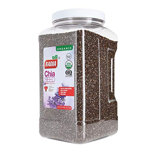 Badia Organic Ground Flax Seed and No Gluten Badia Organic Chia Seed Bundle (Set of 2) with Premium Penguin Recipe Card | 16 ounces of Ground Flax ...