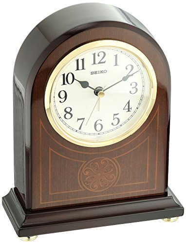 Seiko Wood Desk Clock (Model: QXE057BLH)