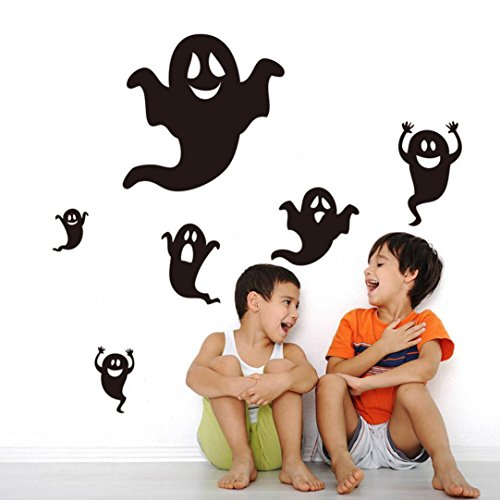 Gotd Halloween Decorations Happy Halloween Black Ghost Wall Sticker Window Home Decoration Decal Decor (#1)