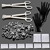 Xpircn 70PCS Piercing Kit Stainless Steel 14G 16G