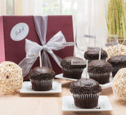 Dulcet Gourmet Chocolate Lovers Brownie Ganache Best Sellers Cupcake Gift Box