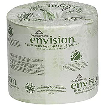 Georgia pacific envision 19880 01 2 ply embossed bathroom tissue l x 4 w Boardwalk 6145 bathroom tissue
