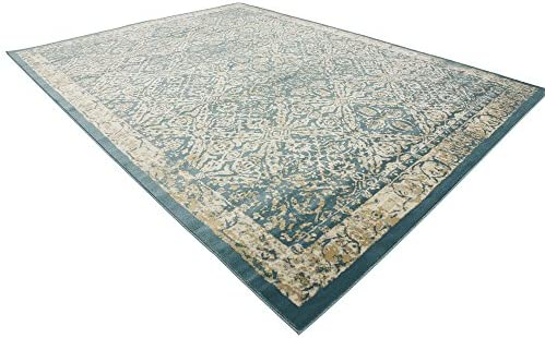 Unique Loom Oslo Traditional Area Rug, 10 0 x 13 0, Teal