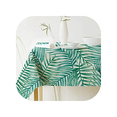 Tablecloths Tropical Plants Table Cloth Pastoral Style Plant Printed Rectangular Tablecloth Home Table Protection Decoration Table Cover,06,140180Cm