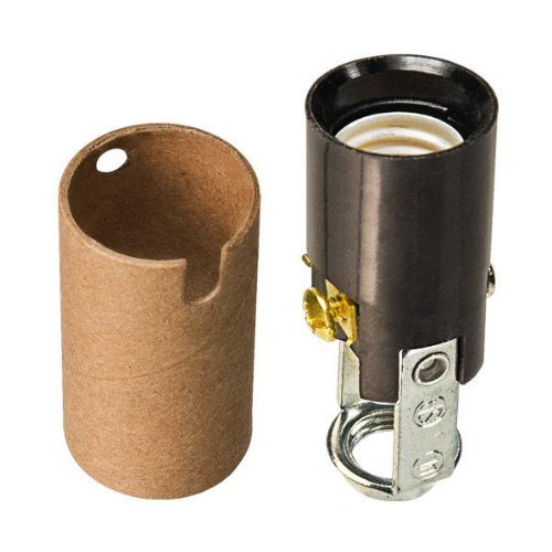 (75 Watt - 125 Volt - 2 in. Phenolic Candelabra Base Socket - Screw Mount - 1/8 IP - Satco 90-403)