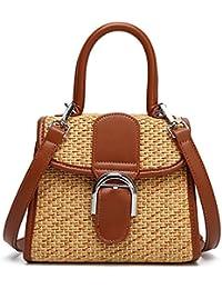 Retro Straw Woven Handbag Womens Small Cross Body Bag Shoulder Messenger Satchel