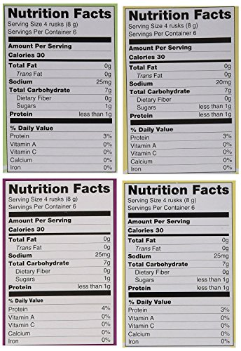 4 Pack, Variety of Original, Apple Banana & Vegetable Flavor Rice Biscuits, 1.76 Ounce