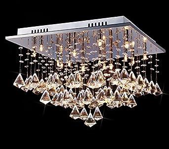 Lampadari Per Grandi Saloni.Saint Mossi Lusso Moderno Di Grandi Dimensioni In Vetro Cristallo