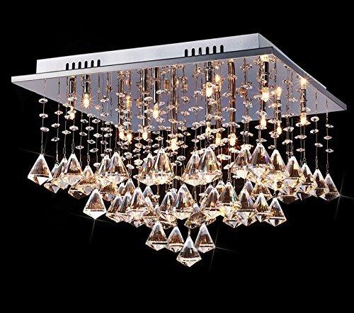 Saint mossi modern k9 crystal raindrop chandelier lighting flush saint mossi modern k9 crystal raindrop chandelier lighting flush mount ceiling light fixture pendant lamp for aloadofball Images
