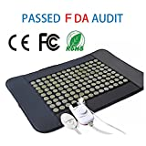 SeHeat Natural Far Infrared Electric Heat Therapy Jade Pad mat 31'' L x 21'' W