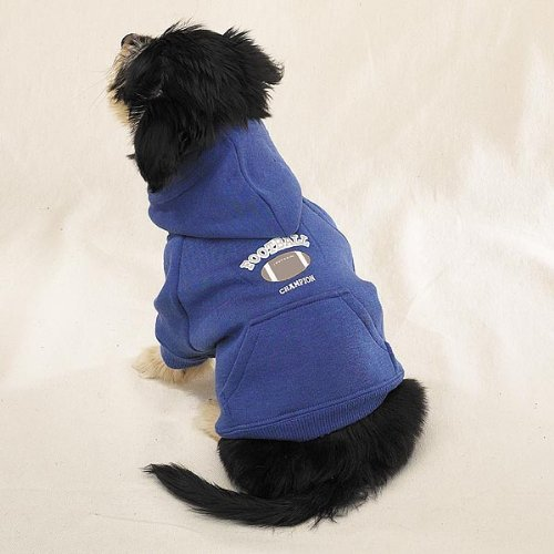 Gray Hooded Football Soccer Sweatshirt – Casual Canine Sports Knit Pullover Hoodie With -