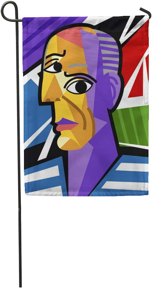 Amazon Com Semtomn Garden Flag Colorful Picasso Cubist Great Artist Portrait Painting Cubism Modern Pablo Home Yard House Decor Barnner Outdoor Stand 12x18 Inches Flag Garden Outdoor
