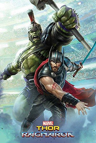 Pyramid International Hulk Thor Ragnarok Maxi Poster Plasticglass
