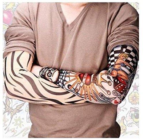 Dxhycc 6pcs temporary fake slip on tattoo arm sleeves for Tattoo sleeves amazon