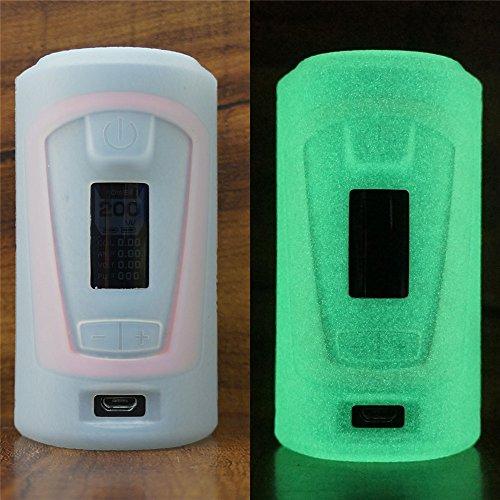 ModShield for Geek Vape GBOX Squonker Box Mod 200W TC Silicone Case ByJojo Cover Shield Wrap Skin (Glow-in-the-Dark) ()