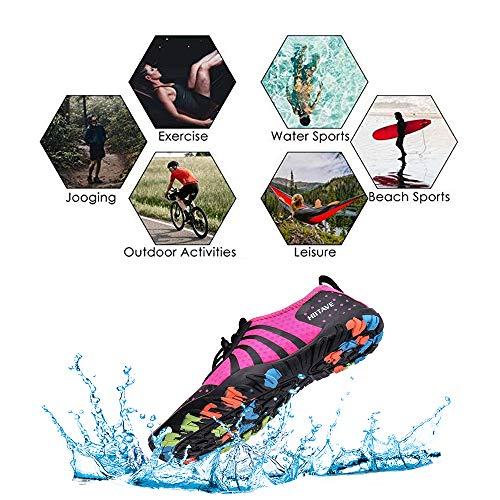 Gehen Schwimmschuhe Fahren Yoga Fushia80 hiitave Badeschuhe Strand Trocknend Aquaschuhe Bootfahren Wasserschuhe See Herren Unisex Wasserschuhe Strand Schnell Surfschuhe Damen Park Garten YOUYgq7
