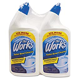 The Works 33302WKCT Disinfectant Toilet Bowl Cleaner, 32 oz Spray Bottle, Pack of 2 (Case of 6 Packs)