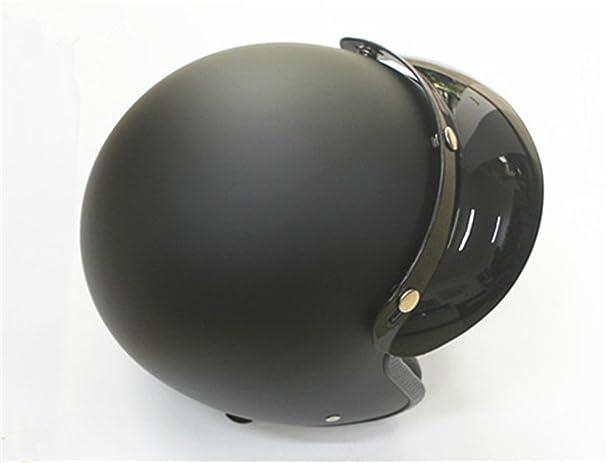 Amazon.com: 3-snap casco open face vintage motorcycle helmets visor helmet peak scooter jet chooper helmet visor sun shield: Automotive