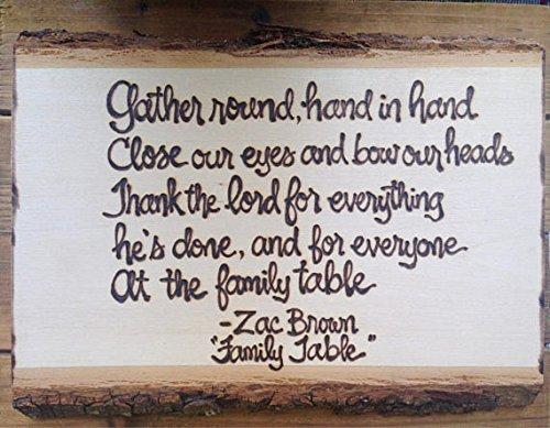 Tree Slice Custom Personalized Wood Sign Plaque Prayer Quote Lyrics Poem Anniversary Wedding New Home Gifts