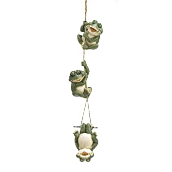 Gifts U0026 Decor Frolicking Frogs Hanging Garden Sculpture Decorative