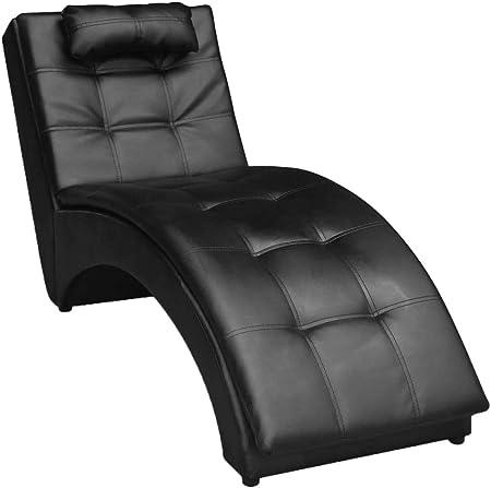 Color: Negro,Material: Estructura de madera + patas metálicas + tapicería de cuero artificial,Dimens