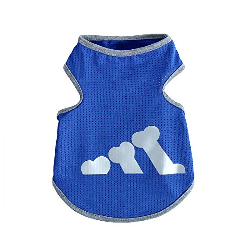 uxcell Breathable Small Dog T-shirts Puppy Sports Clothes Summer Pet Vest Apparel New Blue XS