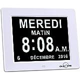 horloge calendrier avec date jour et heure horloge alzheimer horloge pour les seniors by. Black Bedroom Furniture Sets. Home Design Ideas