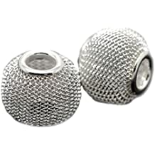 Pro Jewelry (Pack of 20) Silver Plated Mesh Spacer Beads 15419