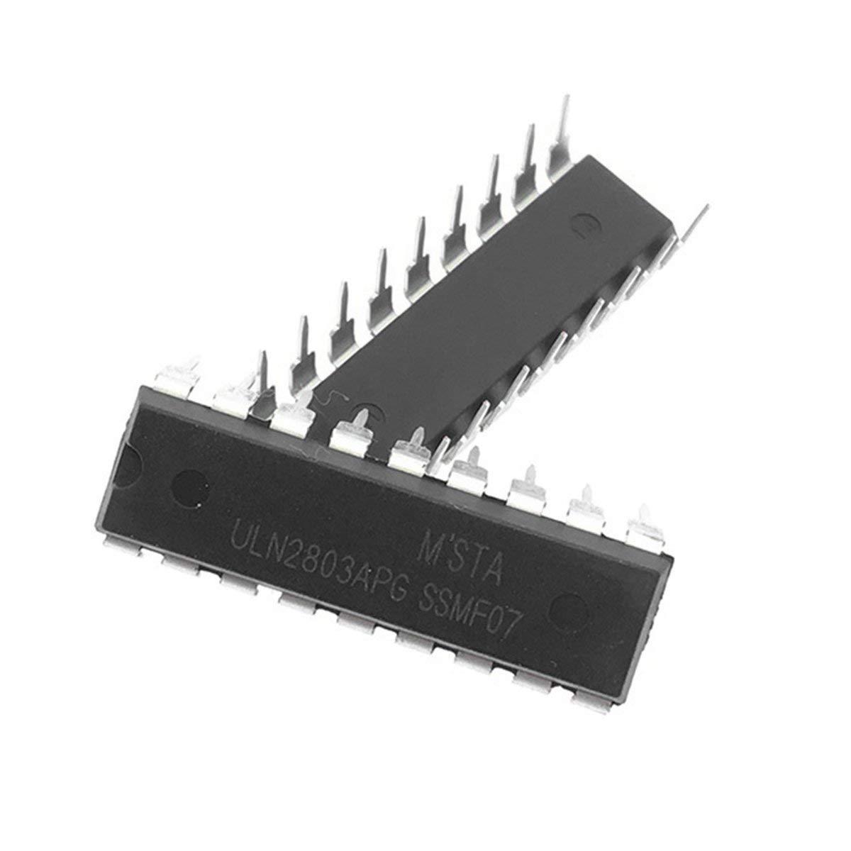 10pcs Uln2803a Uln2803 2803 Transistor Array-8 Npn Ic Durable Direct Insertion Darlington Drive 8 Channel