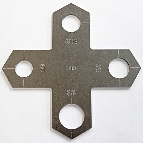 "Holey Cross Plasma Stencil - .580"" - Bolt Hole Circle Plasma Cutter Guide Template"