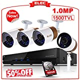 ELEC 4CH 960H HDMI DVR Security Camera System 4 Channel Outdoor CCTV Video Recorder Surveillance System,Night Vision IR Cut,Mobile Phone Remote View Review