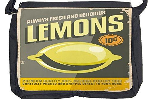 Borsa Tracolla Alimentare Ristorante Limone Stampato