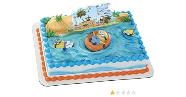 Despicable Me 2 Beach Cake Kit Decoration Topper featuring