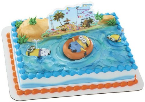Despicable Me 2 Beach Cake Kit Decoration Topper featuring minions