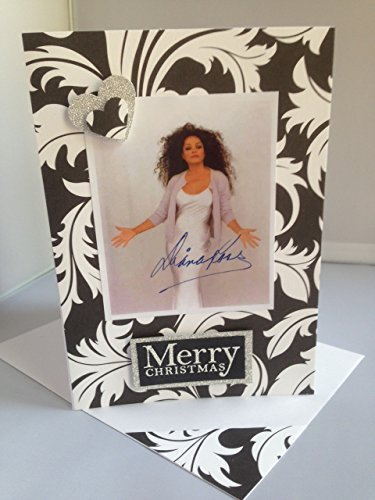 DIANA ROSS MOTOWN singer handmade greetings birthday card famous American singer songwriter Celebrations Salmon pink dream card Love Romance Anniversary Valentines A6/C6 size