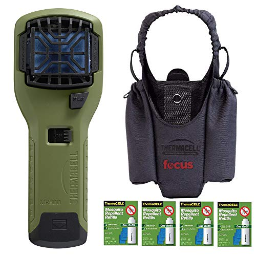 Thermacell Upgraded Camper's Kit : Mosquito Repellent Appliance (Olive), Graphite Holster, Four Refill Packs ()