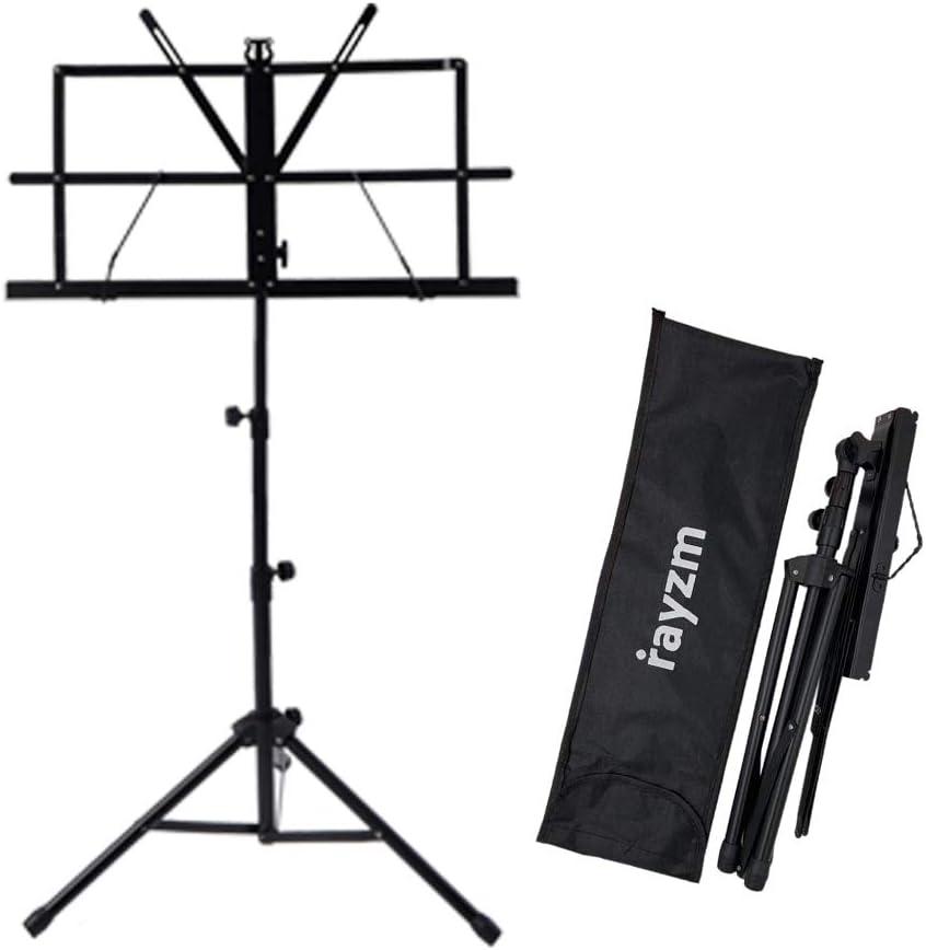 Rayzm Stand/Atril para partituras plegable y portátil con bolsa de ...