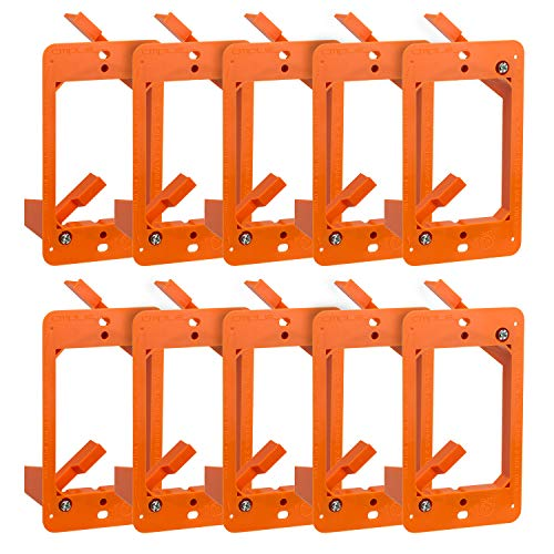 (Cmple - Low Voltage Mounting Bracket 1 Gang Multipurpose Drywall Mounting Wall Plate Bracket - (Single Gang, 10 Pack) )