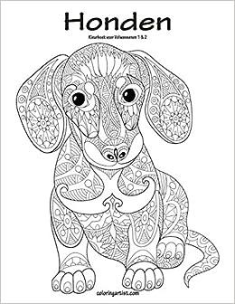 Kleurplaten Voor Volwassenen Honden.Amazon Com Honden Kleurboek Voor Volwassenen 1 2 Dutch