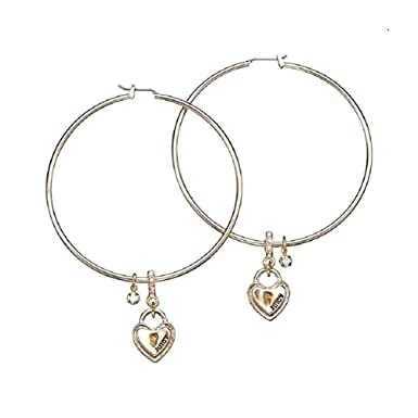 f3b0554a152e5 Amazon.com: Juicy Couture Multi Key Padlock Hoop Earrings in Gold ...