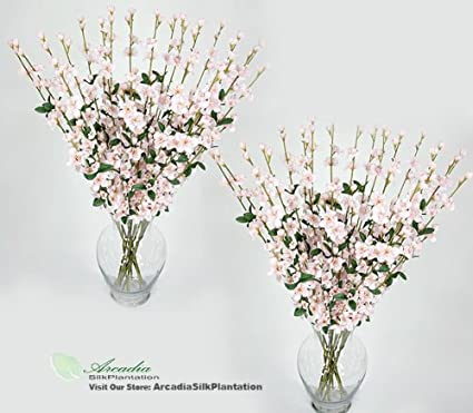 Amazon 24 Pieces Of 27 Cherry Blossom Artificial Silk Flower