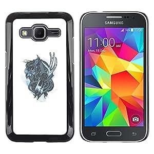 EJOY---Cubierta de la caja de protección la piel dura para el ** Samsung Galaxy Core Prime ** --Mechanich Búho